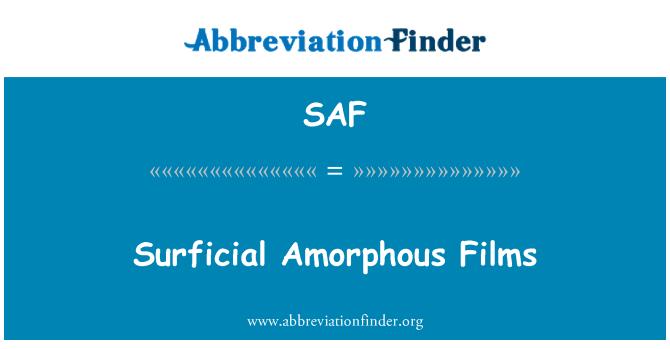 SAF: Surficial Amorphous Films