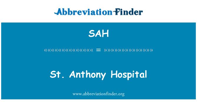 SAH: St. Anthony Hospital
