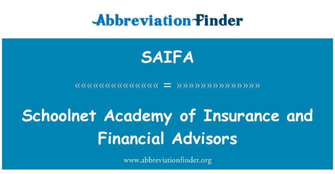 SAIFA: Schoolnet akademija osiguranja i financijskih savjetnika