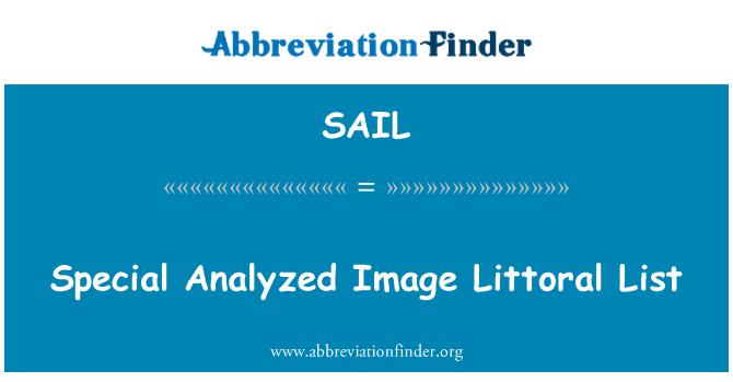 SAIL: Especial analiza imagen lista litoral