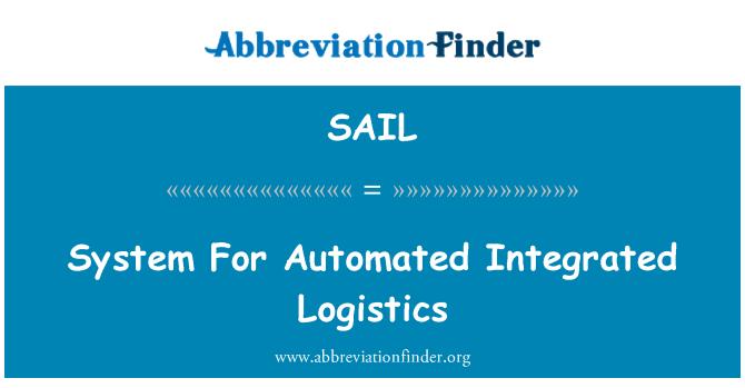SAIL: Sistema de logística integrada automatizada