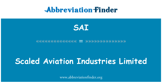 SAI: Scaled Aviation Industries Limited