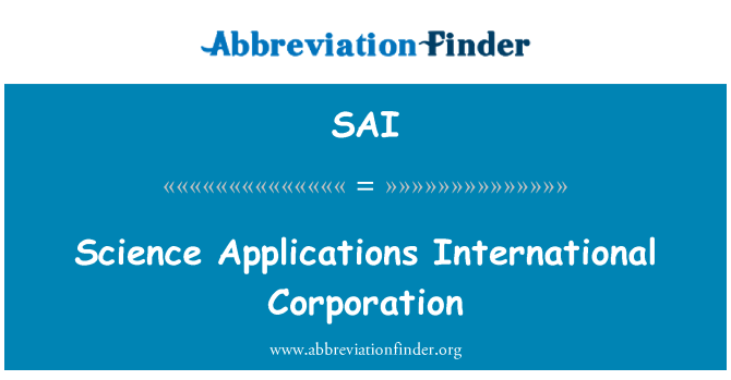 SAI: Science Applications International Corporation