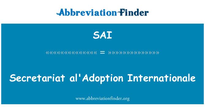 SAI: Secretariat al'Adoption Internationale