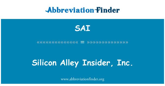 SAI: Silicon Alley Insider, Inc.