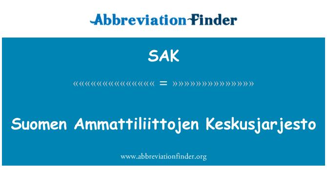 SAK: Suomen Ammattiliittojen Keskusjarjesto
