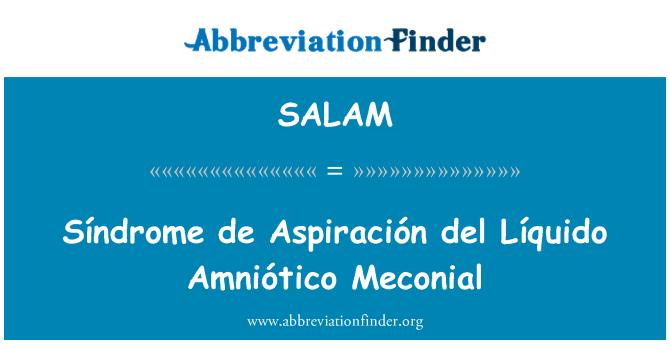 SALAM: Síndrome de Aspiración del Líquido Amniótico Meconial