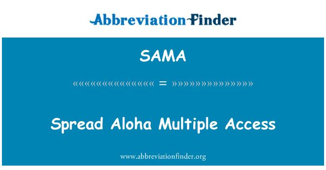 SAMA: Difundir Aloha acceso múltiple