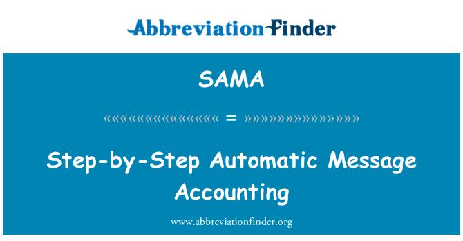 SAMA: Contabilidad automática paso a paso de mensajes