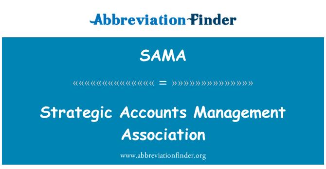 SAMA: Asociación de gestión de cuentas estratégicas