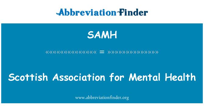SAMH: Asociación escocesa para la Salud Mental