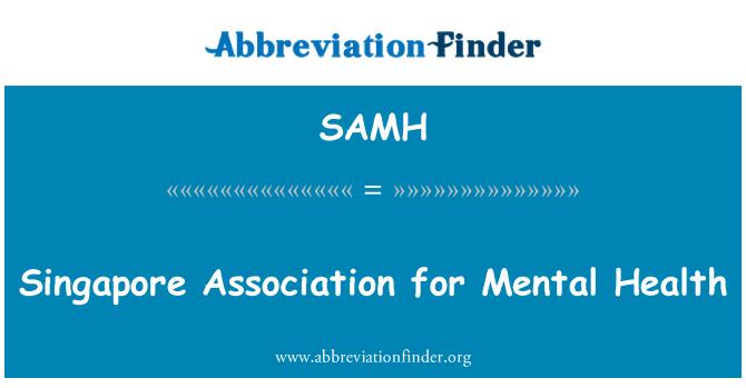 SAMH: Singapur Association for Mental Health