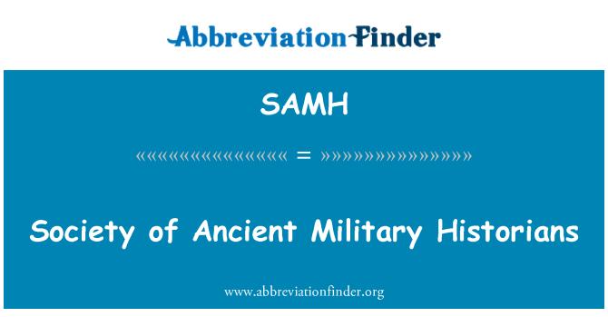 SAMH: Eski askeri tarihçiler Derneği