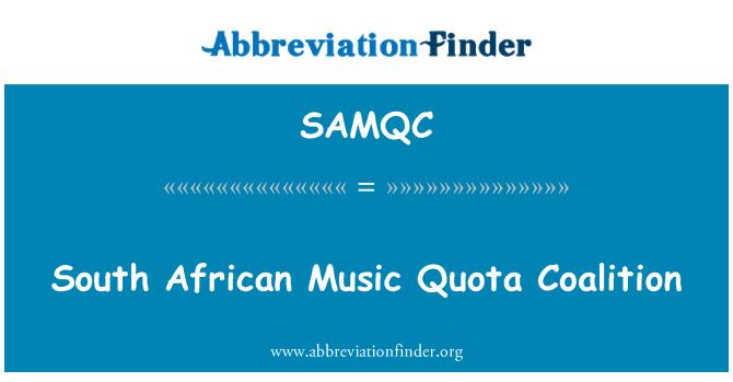 SAMQC: South African Music Quota Coalition