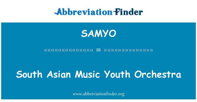 SAMYO: South Asian Music Youth Orchestra