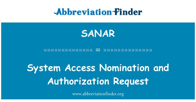 SANAR: Sistema acceso nominación y solicitud de autorización