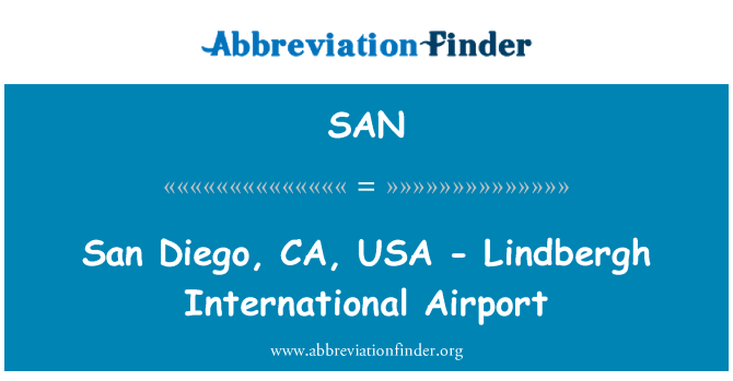 SAN: San Diego, CA, USA - Lindbergh International Airport