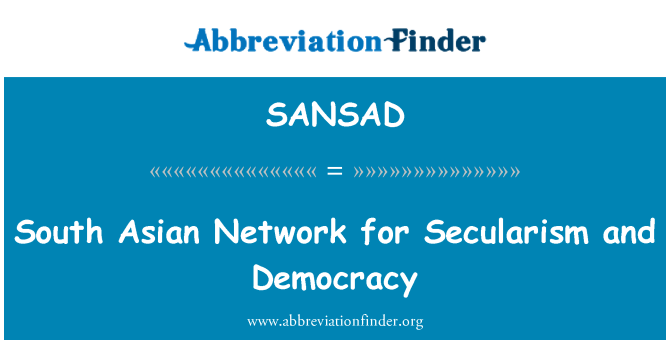SANSAD: South Asian Network for Secularism and Democracy