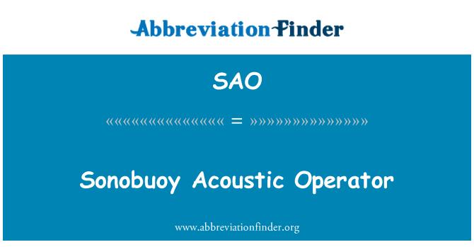 SAO: Sonobuoy Acoustic Operator