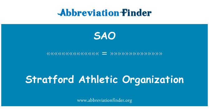 SAO: Stratford Athletic Organization