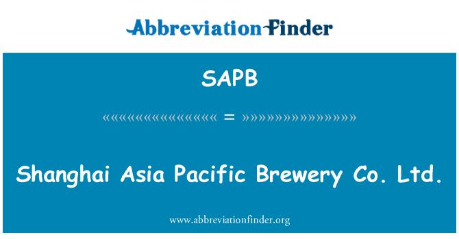 SAPB: Shanghai Asia Pacific Brewery Co Ltd.