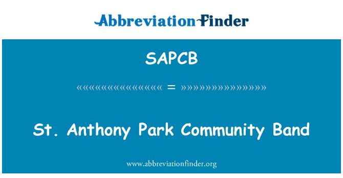 SAPCB: St. Anthony Park comunidad banda