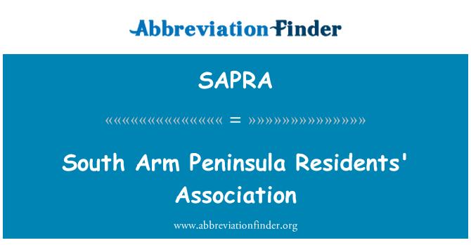 SAPRA: South Arm Peninsula Residents' Association