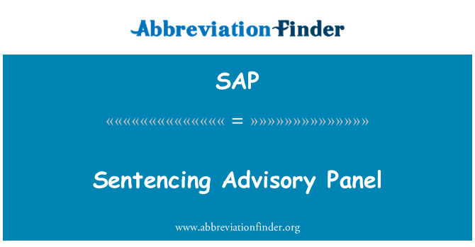 SAP: Sentencing Advisory Panel