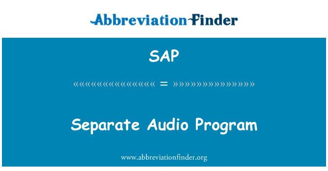 SAP: Separate Audio Program