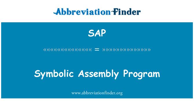 SAP: Symbolic Assembly Program