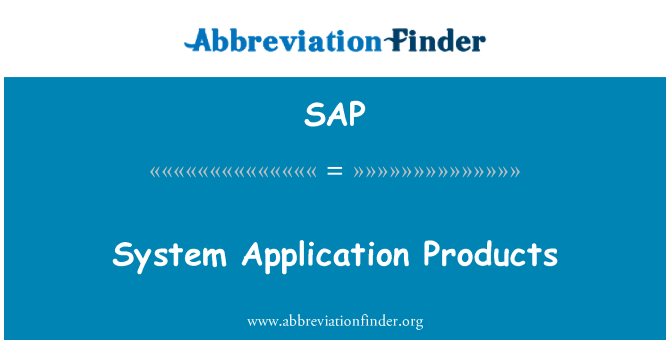 SAP: System Application Products