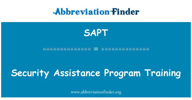 SAPT: Security Assistance Program Training