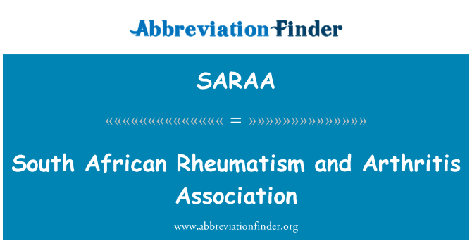 SARAA: Asociación de artritis y reumatismo del africano del sur