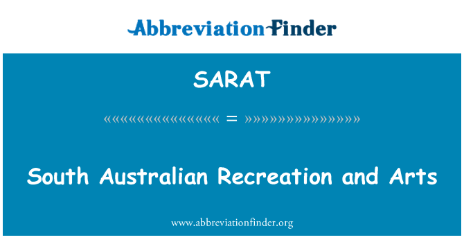 SARAT: South Australian Recreation and Arts