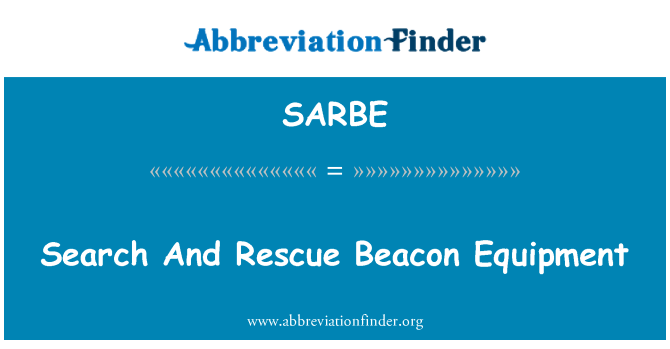 SARBE: Search And Rescue Beacon Equipment