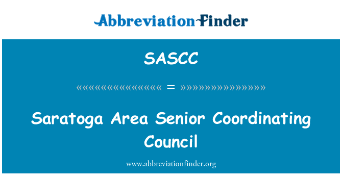 SASCC: Saratoga Area Senior Coordinating Council