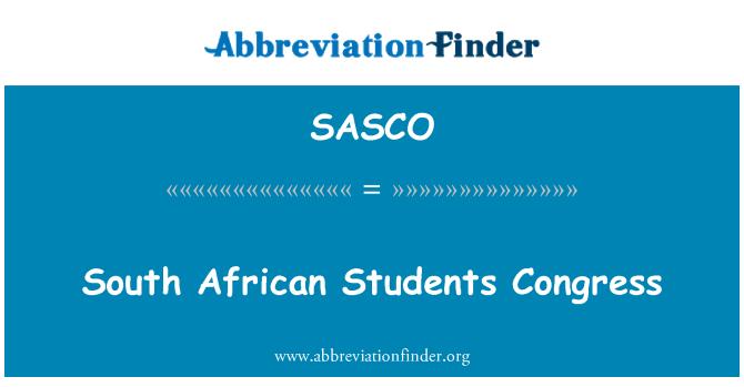 SASCO: Güney Afrikalı öğrenciler Kongresi