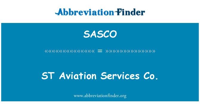 SASCO: ST Havacılık Hizmetleri a.ş.