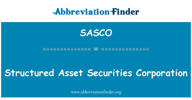 SASCO: Yapısal kıymet menkul değerler şirketi