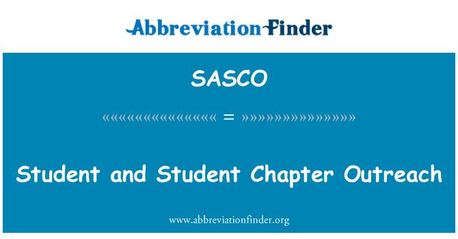 SASCO: Öğrenci ve öğrenci bölüm tanıtım