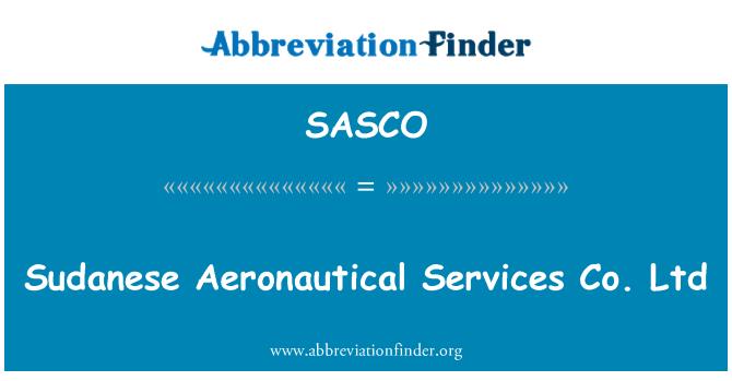SASCO: Sudan Havacılık Hizmetleri Ltd Şti