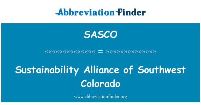SASCO: Jätkusuutlikkuse alliansi edelaosa Colorado