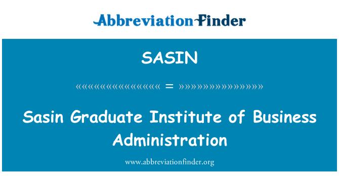 SASIN: Sasin Graduate Institute of Business Administration