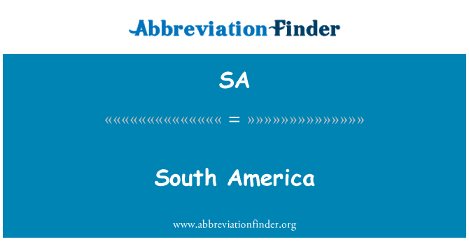 SA: South America