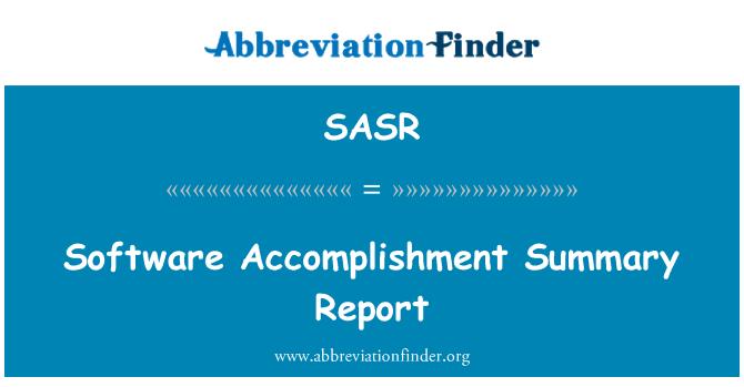 SASR: Informe resumido de la realización de software