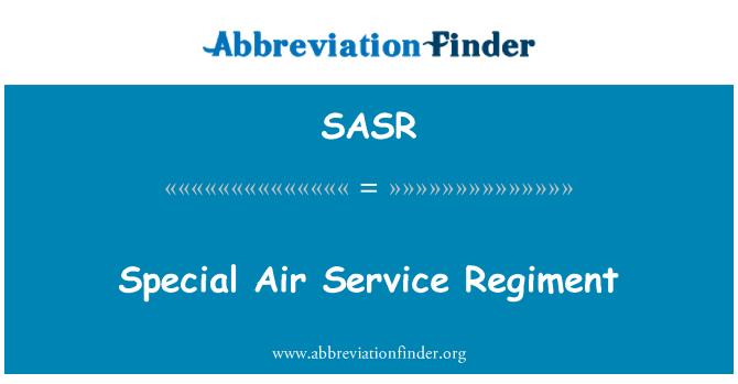 SASR: Regimiento de servicio aéreo especial