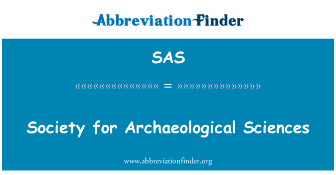 SAS: Society for Archaeological Sciences