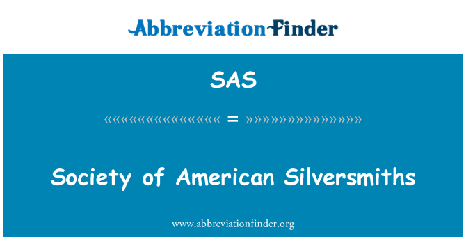 SAS: Society of American Silversmiths