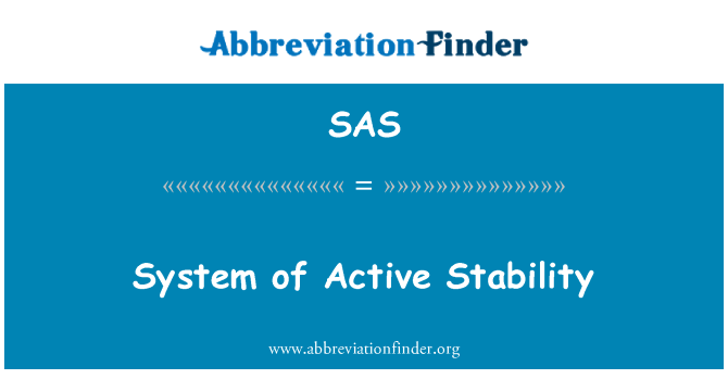SAS: System of Active Stability