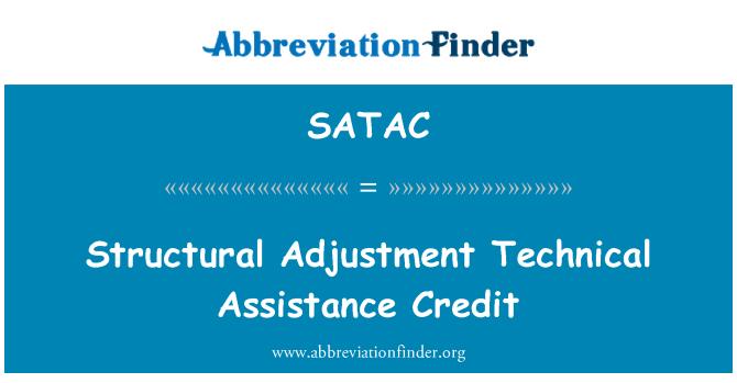 SATAC: Structural Adjustment Technical Assistance Credit